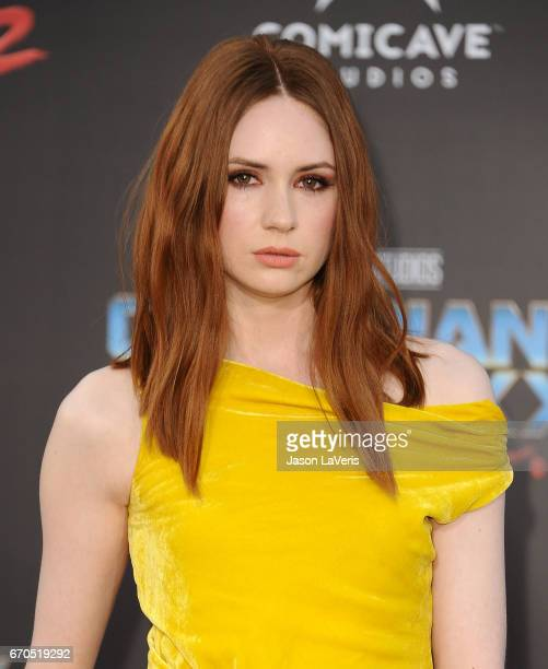 Actress Karen Gillan attends the premiere of 'Guardians of the Galaxy Vol 2' at Dolby Theatre on April 19 2017 in Hollywood California