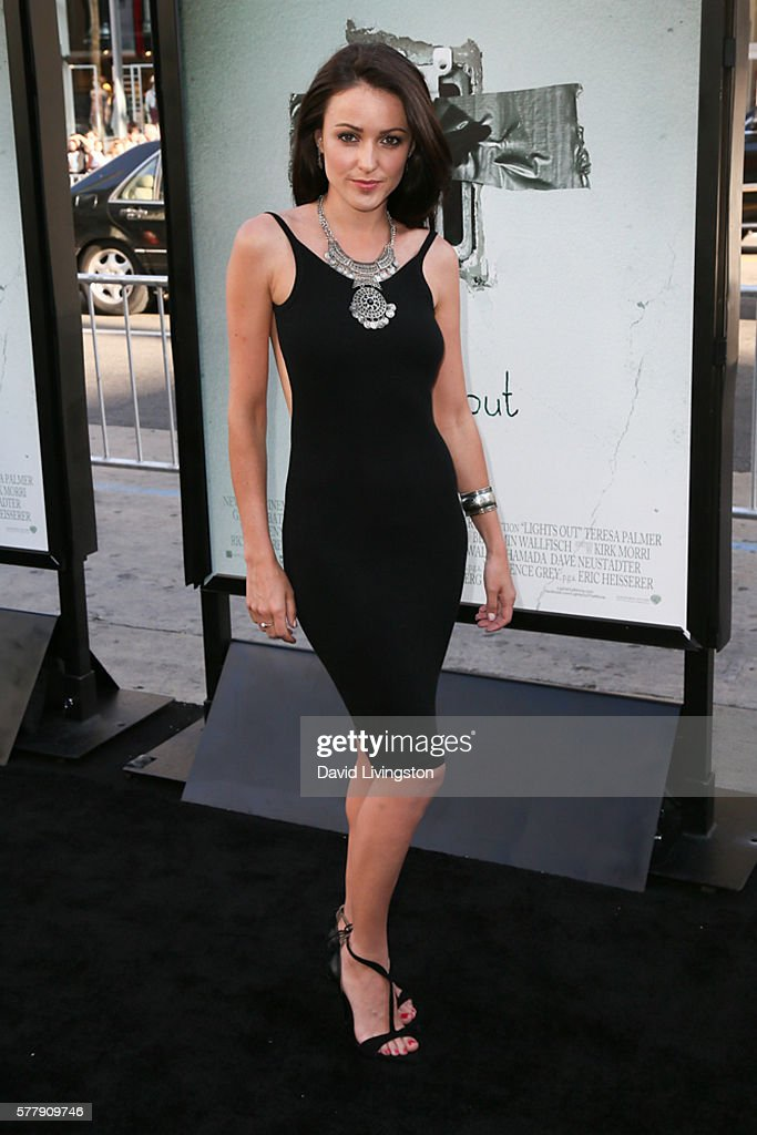 Actress Karen Hassan arrives at the premiere of New Line Cinema's 'Lights Out' at the TCL Chinese Theatre on July 19 2016 in Hollywood California