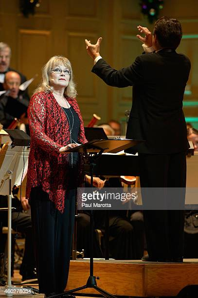 Actress Karen MacDonald narratess A Soldiers Carol The Christmas Truce of 1914' with Keith Lockhart and the Boston Pops at A Company Christmas At...