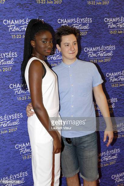 Actress Karidja Toure and guest attend 'La Colle' Premiere at Cinema Georges V during the 6th ChampsElysees Film Festival on June 20 2017 in Paris...