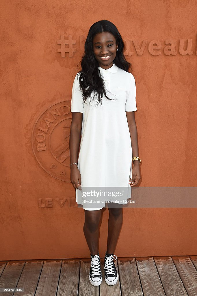 Actress Karidja Toure attends day six of the 2016 French Open at Roland Garros on May 27, 2016 in Paris, France.