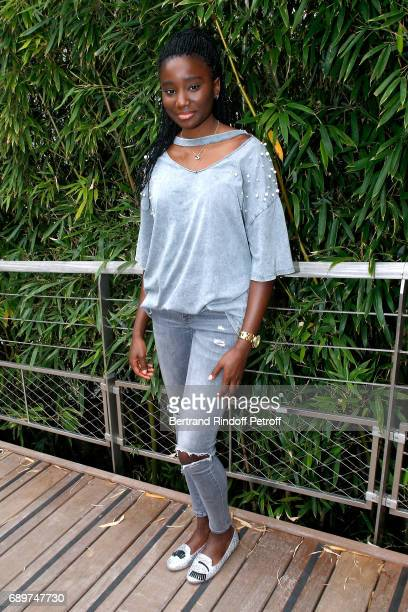 Actress Karidja Toure attends the 2017 French Tennis Open Day Two at Roland Garros on May 29 2017 in Paris France