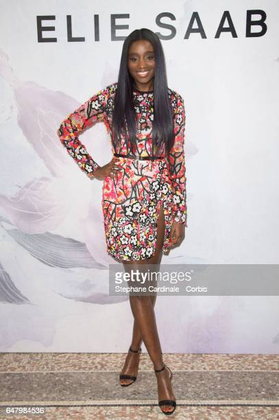 Actress Karidja Toure attends the Elie Saab show as part of the Paris Fashion Week Womenswear Fall/Winter 2017/2018 on March 4 2017 in Paris France