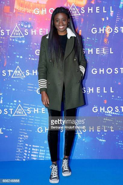 Actress Karidja Toure attends the Paris Premiere of the Paramount Pictures release 'Ghost in the Shell' Held at Le Grand Rex on March 21 2017 in...