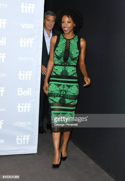 Actress Karimah Westbrook attends the 'Suburbicon' press conference during the 2017 Toronto International Film Festival at TIFF Bell Lightbox on...