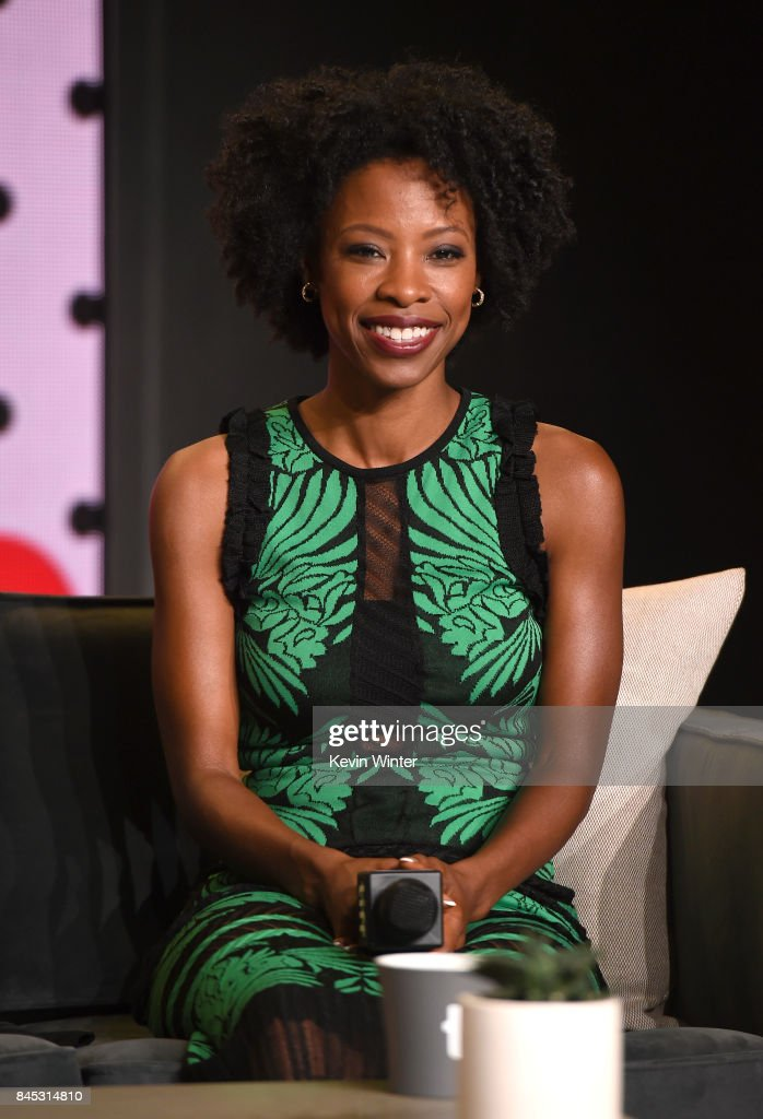 Actress Karimah Westbrook speaks onstage at the 'Suburbicon' press conference during the 2017 Toronto International Film Festival at TIFF Bell Lightbox on September 10, 2017 in Toronto, Canada.