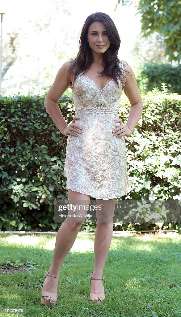 Actress Karin Proia attends 'La Tre Rose Di Eva 2' photocall at Mediaset Studios on July 23, 2013 in Rome, Italy.
