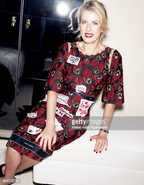 Actress Karin Viard is photographed for Madame Figaro on July 7 2017 in Paris France Dress watch bracelet shoes PUBLISHED IMAGE CREDIT MUST READ...
