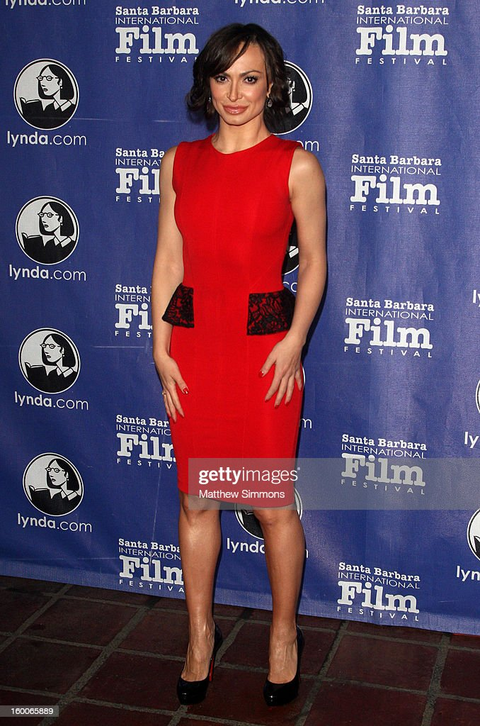 Actress Karina Smirnoff attends tthe opening night screening of 'Disconnect' at the28th Santa Barbara International Film Festival on January 24 2013...
