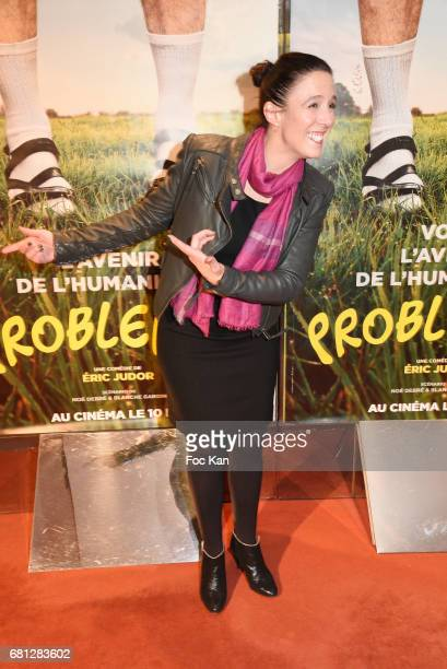 Actress Karine Valmer attends 'Problemos' Paris Premiere At UGC Cine Cite Les Halles on May 9 2017 in Paris France