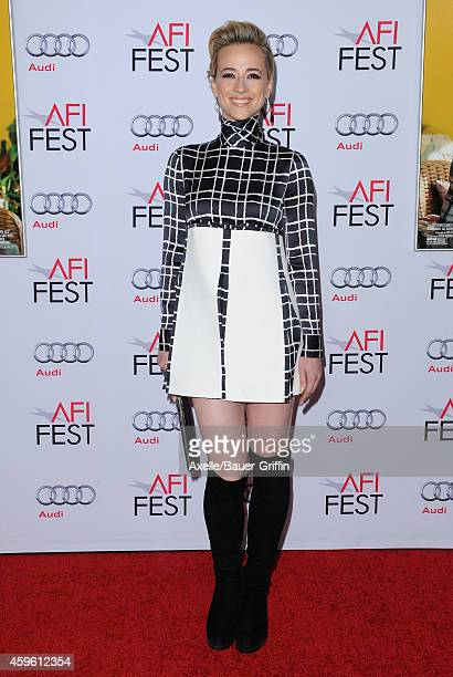 Actress Karine Vanasse arrives at AFI FEST 2014 Presented By Audi 'Still Alice' Premiere at Dolby Theatre on November 12 2014 in Hollywood California