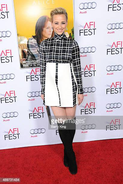 Actress Karine Vanasse arrives at AFI FEST 2014 Presented By Audi 'Mommy' Premiere at Dolby Theatre on November 12 2014 in Hollywood California
