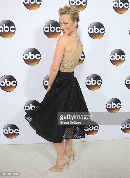 Actress Karine Vanasse arrives at Disney ABC Television Group's TCA Winter Press Tour on January 14 2015 in Pasadena California