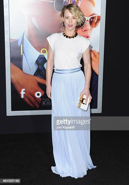Actress Karine Vanasse arrives at the Los Angeles World Premiere Of Warner Bros Pictures 'Focus' at TCL Chinese Theatre on February 24 2015 in...
