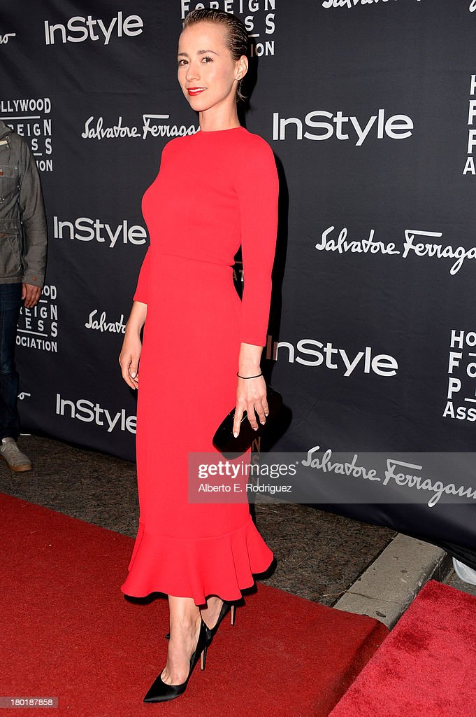 Actress Karine Vanasse arrives at the TIFF HFPA / InStyle Party during the 2013 Toronto International Film Festival at Windsor Arms Hotel on September 9, 2013 in Toronto, Canada.