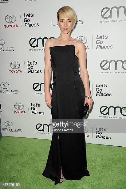 Actress Karine Vanasse attends the 2014 Environmental Media Awards at Warner Bros Studios on October 18 2014 in Burbank California