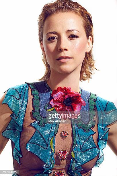 Actress Karine Vanasse is photographed for Elle Quebec on November 25 2015 in Montreal Quebec Published Image