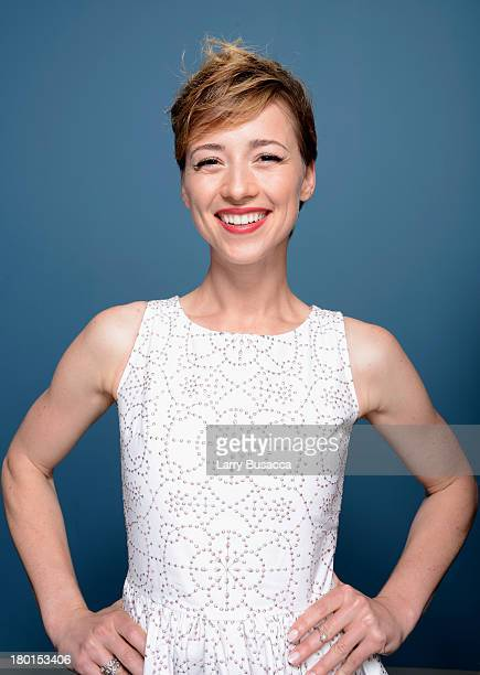 Actress Karine Vanasse of 'All The Wrong Reasons' poses at the Guess Portrait Studio during 2013 Toronto International Film Festival on September 9...