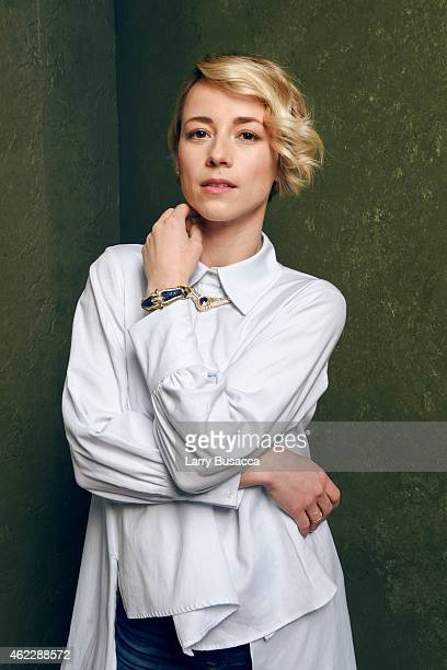 Actress Karine Vanasse of 'The Forbidden Room' poses for a portrait at the Village at the Lift Presented by McDonald's McCafe during the 2015...