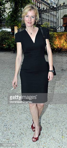 Actress Karine Viard poses as she arrives at the Chloe new Fragance Launch at the Apicius restaurant in Paris on June 16 2010 in Paris France