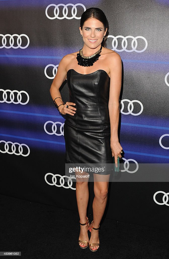 Actress Karla Souza arrives at Audi Emmy Week Celebration at Cecconi's Restaurant on August 21, 2014 in Los Angeles, California.