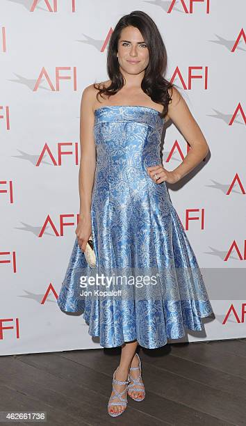 Actress Karla Souza arrives at the 15th Annual AFI Awards at Four Seasons Hotel Los Angeles at Beverly Hills on January 9 2015 in Beverly Hills...
