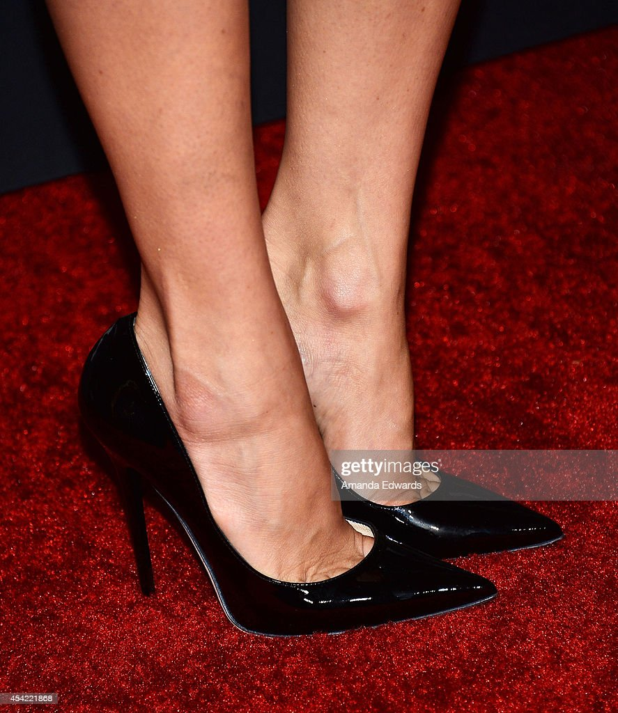 Actress Karla Souza (shoe detail) arrives at the 2014 Entertainment Weekly Pre-Emmy Party at Fig & Olive Melrose Place on August 23, 2014 in West Hollywood, California.