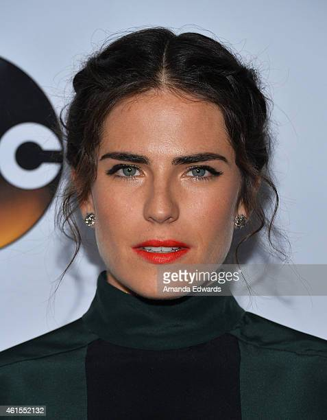 Actress Karla Souza arrives at the ABC TCA 'Winter Press Tour 2015' Red Carpet on January 14 2015 in Pasadena California