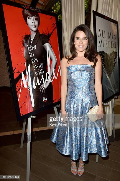 Actress Karla Souza attends the 15th Annual AFI Awards at Four Seasons Hotel Los Angeles at Beverly Hills on January 9 2015 in Beverly Hills...