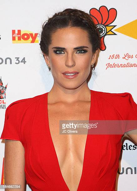 Actress Karla Souza attends The 2013 Los Angeles Latino International Film Festival Closing Night Premiere of 'Nosotros Los Nobles' at The Orpheum...
