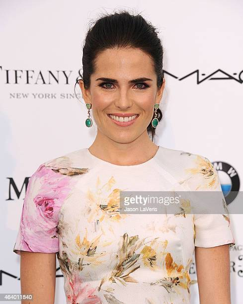 Actress Karla Souza attends the 8th annual Women In Film preOscar cocktail party at HYDE Sunset Kitchen Cocktails on February 20 2015 in West...