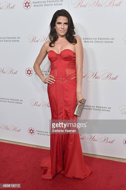 Actress Karla Souza attends the American Friends Of Magen David Adom's Red Star Ball at The Beverly Hilton Hotel on October 22 2015 in Beverly Hills...