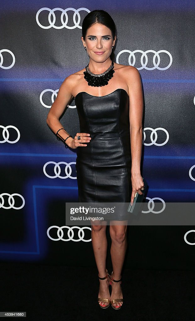 Actress <a gi-track='captionPersonalityLinkClicked' href=/galleries/search?phrase=Karla+Souza&family=editorial&specificpeople=6147755 ng-click='$event.stopPropagation()'>Karla Souza</a> attends the Audi celebration of Emmys Week 2014 at Cecconi's Restaurant on August 21, 2014 in Los Angeles, California.
