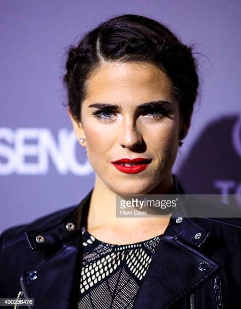 Actress Karla Souza attends the celebration of ABC's TGIT Lineup held at Gracias Madre on September 26 2015 in West Hollywood California