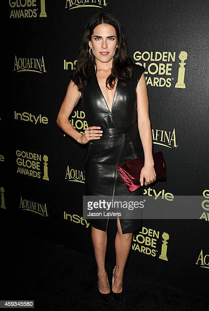 Actress Karla Souza attends the Hollywood Foreign Press Association and InStyle's celebration of the 2015 Golden Globe award season at Fig Olive...