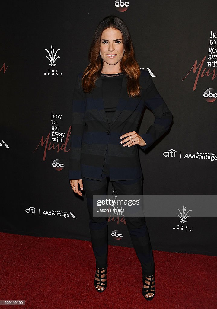 Premiere of abcs actress karla souza attends the season 3 premiere of how to get away with murder ccuart Images