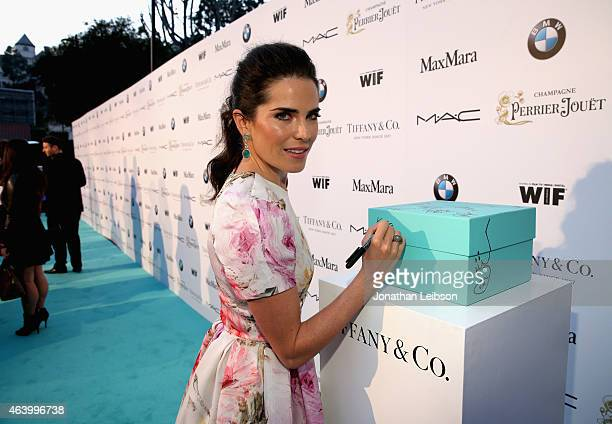 Actress Karla Souza attends Women In Film PreOscar Cocktail Party presented by MaxMara BMW Tiffany Co MAC Cosmetics and PerrierJouet at Hyde Sunset...