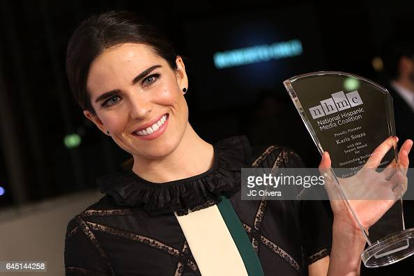 Actress Karla Souza wins 'The Outstanding Performance in a Television Series Impact Award' for 'How to Get Away With Murder' during the 20th Annual...