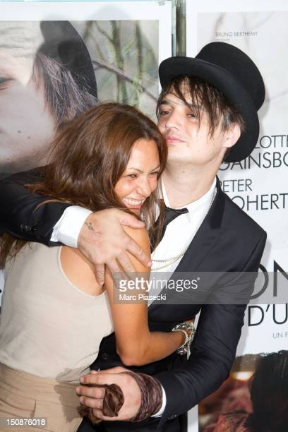 Actress Karole Rocher and actor Pete Doherty attend the 'Confessions D'un Enfant Du Siecle' Premiere at UGC Cine Cite des Halles on August 28 2012 in...