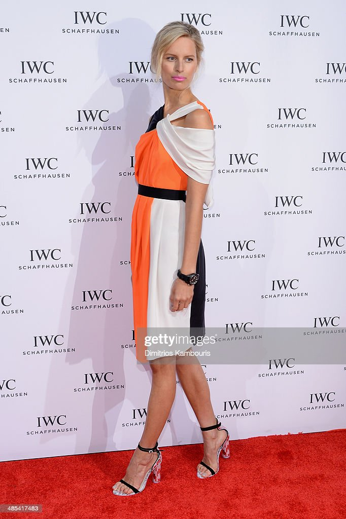 Actress Karolina Kurkova attends the 'For the Love of Cinema' dinner hosted by IWC Schaffhausen and Tribeca Film Festival at Urban Zen on April 17, 2014 in New York City.