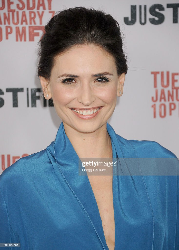 Actress Karolina Wydra arrives at the Los Angeles premiere of FX 'Justified' at DGA Theater on January 6, 2014 in Los Angeles, California.