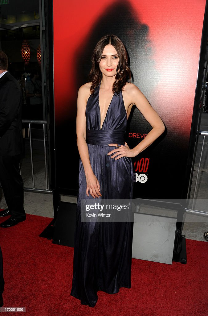 Actress Karolina Wydra attends the premiere of HBO's 'True Blood' at ArcLight Cinemas Cinerama Dome on June 11, 2013 in Hollywood, California.