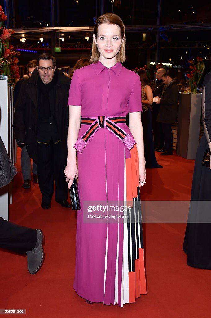 Actress Karoline Herfurth attends the 'Hail Caesar' premiere during the 66th Berlinale International Film Festival Berlin at Berlinale Palace on...