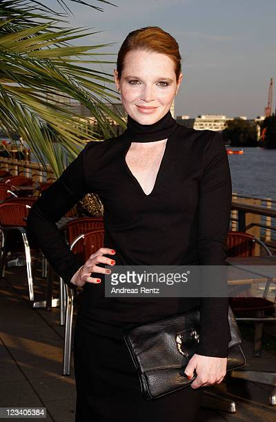 Actress Karoline Herfurth dressed in Kilian Kerner attends the Deutsche Grammophon reception at the Universial Music headquarters on September 2 2011...