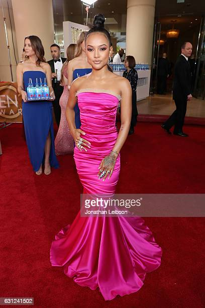 Actress Karrueche Tran at the 74th annual Golden Globe Awards sponsored by FIJI Water at The Beverly Hilton Hotel on January 8 2017 in Beverly Hills...