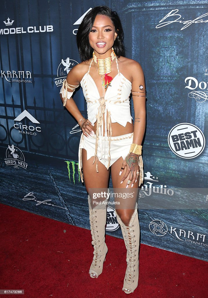 Actress Karrueche Tran attends Maxim Magazine's annual Halloween party on October 22, 2016 in Los Angeles, California.