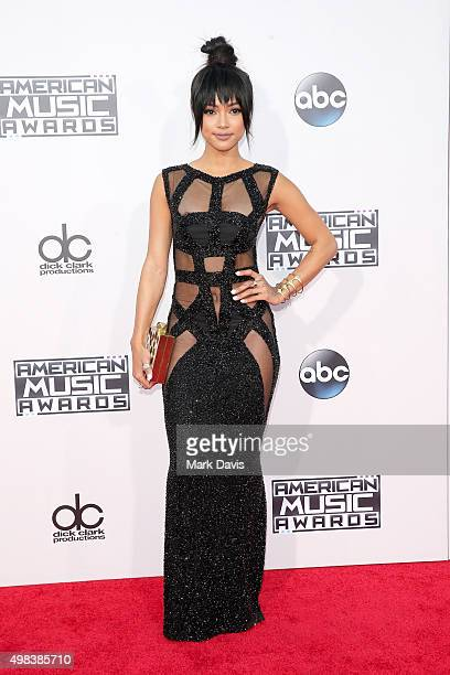 Actress Karrueche Tran attends the 2015 American Music Awards at Microsoft Theater on November 22 2015 in Los Angeles California