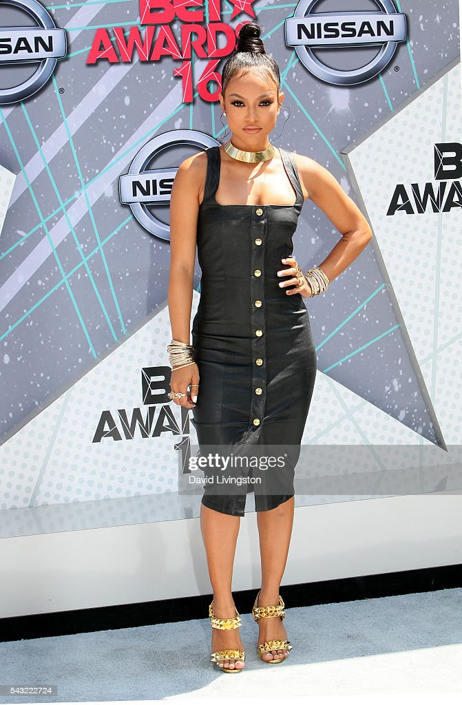 Actress <a gi-track='captionPersonalityLinkClicked' href=/galleries/search?phrase=Karrueche+Tran&family=editorial&specificpeople=9447374 ng-click='$event.stopPropagation()'>Karrueche Tran</a> attends the 2016 BET Awards at Microsoft Theater on June 26, 2016 in Los Angeles, California.