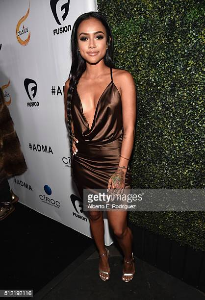 Actress Karrueche Tran attends the ALL Def Movie Awards at Lure Nightclub on February 24 2016 in Hollywood California