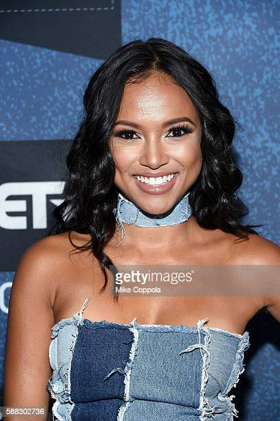Actress Karrueche Tran attends the BET How To Rock Denim at Milk Studios on August 10 2016 in New York City